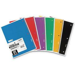 "Mead 05512 Spiral Notebook, College Ruled 7.5"" x 10.5"" 70 Sh"