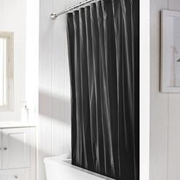 United Linens 10 Gauge HEAVY DUTY shower Curtain Liner black