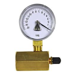 10 increment gas test gauge