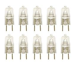 10 Pcs 20W 120V G8 Base Halogen Bi Pin Under Cabinet Light B