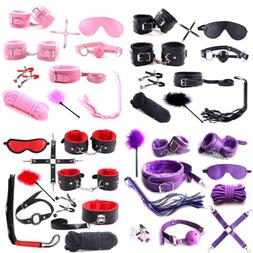 10PC Bondage Kit Under Bed Restraint Set BDSM Love Cuffs Mul