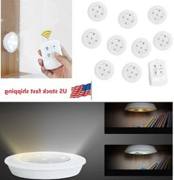 10pcs Dimmable LED Under Cabinet Light Closet Puck Lamp Home