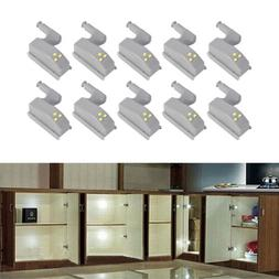 10pcs Under Cabinet LED Kitchen Hinge Sensor Cupboard Closet