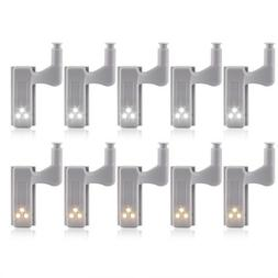 10pcs Universal LED Sensor Under Cabinet Light Cupboard Door