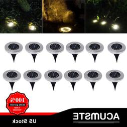 1-12Pc 8/12LED Under Ground Solar Decor Buried Light For Out