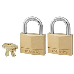 Master Lock Padlock, Solid Brass Lock, 1-9/16 in. Wide, 140T