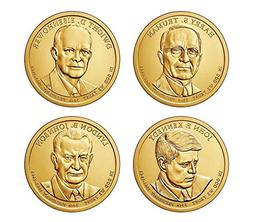 2015 D Complete Set of all 4 Presidential Dollars Uncirculat