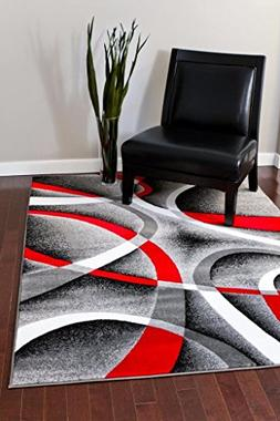 Persian Area Rugs 2305 Gray 2x3 Swirls Modern Abstract Area