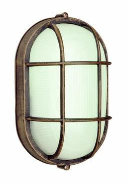 "Trans Globe Lighting 41005 RT Outdoor Aria 8.5"" Bulkhead, Ru"