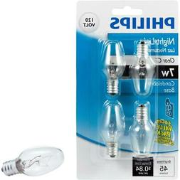 Philips Genuine OEM 415463 Candelabra Base C7 45 Lumen, 7 Wa
