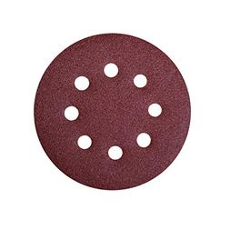 POWERTEC 45006 A/O Hook and Loop 8 Hole Disc, 5-Inch, 60 Gri