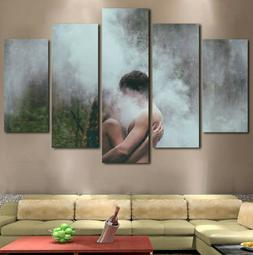 5Pc Kissing under a Waterfall Canvas Wall Art Home Decor Fra
