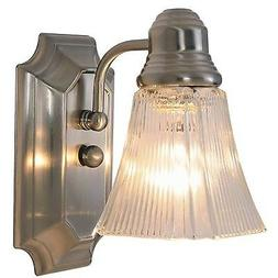 Monument 617093  Decorative Bathroom Wall Sconce, Brushed Ni