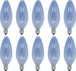 GE Lighting 75035 40-Watt 280-Lumen Blunt Tip Light Bulb wit