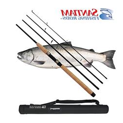 Santiam Fishing Rods Travel Rod 4 Piece 8'6'' 6-12lb MF Grap