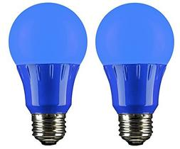 Sunlite 80145 Blue LED A19 3 Watt Medium Base 120 Volt UL Li