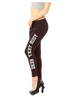 Brown Leggings Women - Custom Active Yoga Pants - Spandex Co