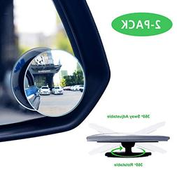 Car Blind Spot Mirror, Lecone 360° Adjustable Round Convex