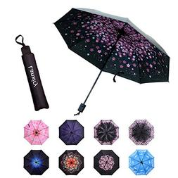 Compact Travel Umbrella,Windproof Waterproof Stick Umbrella