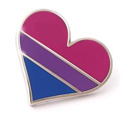 Compoco Bisexual Pride Pin Bi Flag Enamel Lapel Heart Gay Pi