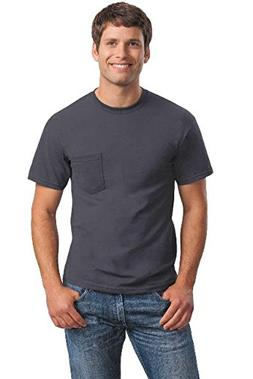 Gildan Mens 6.1 oz. Ultra Cotton Pocket T-Shirt G230 -CHARCO