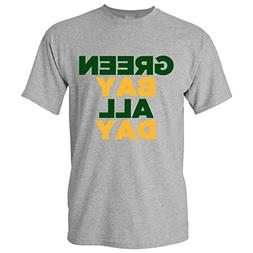 Green Bay All Day Basic Cotton T-Shirt - X-Large - Grey