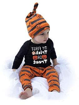 Happy Kido 3Pcs Cute Infant Baby Girl Boy Halloween Clothes