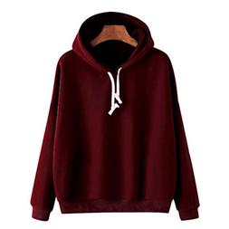 Hoodie Sweatshirt PulloverMITIY Ladies Winter Solid Long Sle