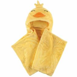 Hudson Baby Plush Blanket with Hood, Duck