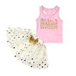 JPOQW Baby Girl Dresses, Toddler Kids Birthday Princess Slee