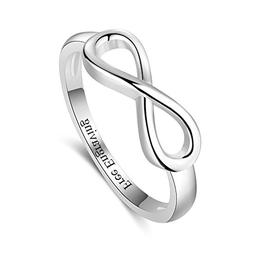Lam Hub Fong Infinity Knot BFF Friendship Rings Sterling Sil