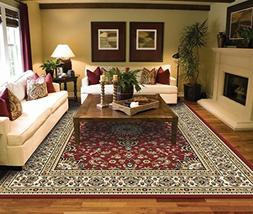Large Rugs for Living Room Red Traditional Clearance Area Ru