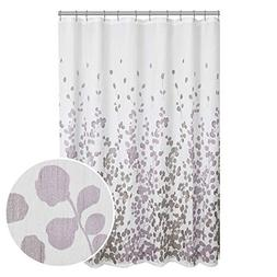 MAYTEX Sylvia Printed Faux Silk Fabric Shower Curtain, Purpl
