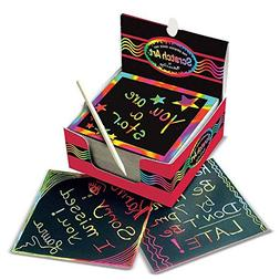 Melissa & Doug Scratch Art Rainbow Mini Notes  With Wooden S