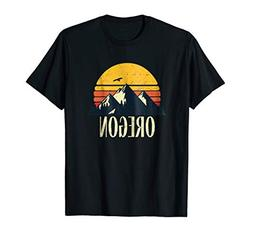 Oregon State Retro Vintage Mountain Sunset T Shirt