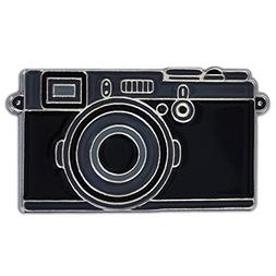 PinMart Black Camera Photography Lover Enamel Lapel Pin