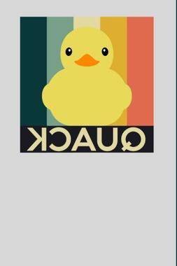Quack: Rubber Duck  Notebook- 6x9 - Blank Lined Journal Note