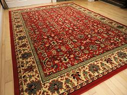 Red Traditional Rug Large Red 8x11 Persian Rug Red Rugs for