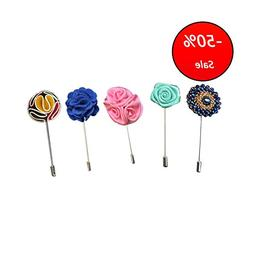 Seven And Eight S&E Fashion Men Rose Floral Lapel Stick Broo