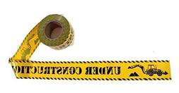 TorxGear Kids Under Construction Party Tape! - 300 Foot Roll