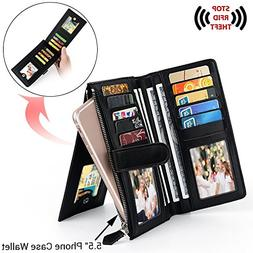 UTO RFID Wallet for Women PU Leather Blocking Tech 22 Card 5