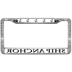 Welljooy Standard Fit License Plate Frame SHIP ANCHOR Licens