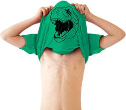 Youth Ask Me About My Trex T Shirt Funny Cool Dinosaur Flip