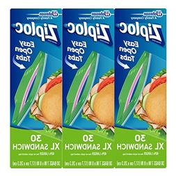 Ziploc Sandwich Bags, XL, 3 Pack, 30 ct