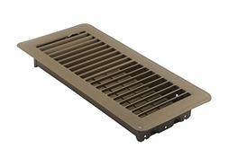 Accord ABFRBR410 Floor Register with Louvered Design, 4-Inch