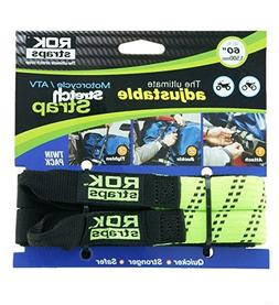 "ROK Straps 12""-42"" Adjustable Loop-Thru-2PK Lime"