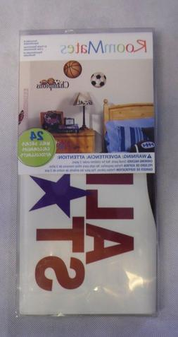 RoomMates All Star Sports Saying Peel Stick Removable Wall D