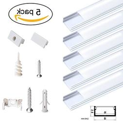Nicelux Aluminum LED Strip Channel System U-Shape Channels 1