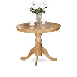"East West Furniture ANT-OAK-TP Antique Table 36"" Round With"