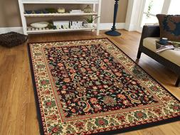 AS Quality Rugs Large Area Rug 8x11 Oriental Rugs Black Pers